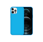 JVS Products iPhone 12 Back Cover Hoesje - Siliconen - Case - Backcover - Apple iPhone 12 - Turquoise