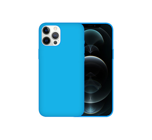 JVS Products iPhone 12 Case Hoesje Siliconen Back Cover - Apple iPhone 12 - Turquoise