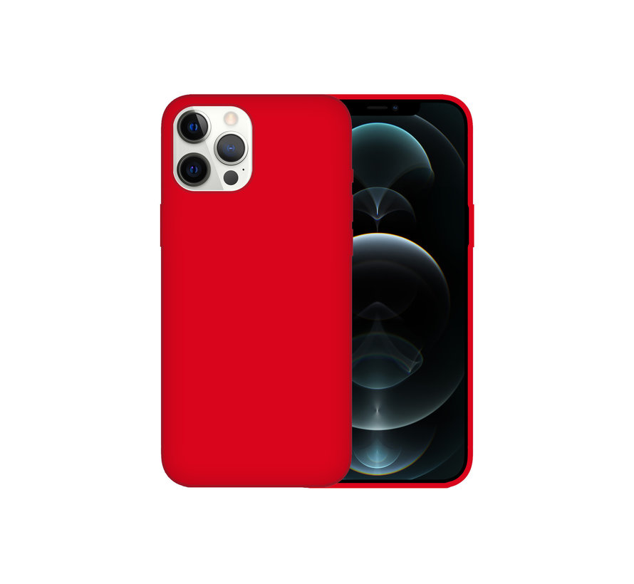iPhone 12 Pro Case Hoesje Siliconen Back Cover - Apple iPhone 12 Pro - Rood