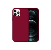 JVS Products iPhone 12 Pro Case Hoesje Siliconen Back Cover - Apple iPhone 12 Pro - Bordeaux Rood