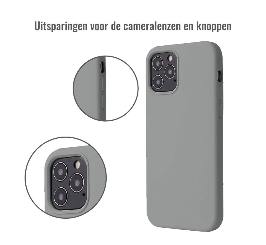 iPhone 12 Pro Back Cover Hoesje - Siliconen - Case - Backcover - Apple iPhone 12 Pro - Grijs
