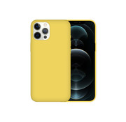 JVS Products iPhone 12 Pro Case Hoesje Siliconen Back Cover - Apple iPhone 12 Pro - Geel