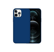 JVS Products iPhone 12 Pro Back Cover Hoesje - Siliconen - Case - Backcover - Apple iPhone 12 Pro - Midnight Blue/Donker Blauw