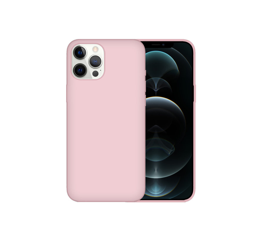 iPhone 12 Pro Back Cover Hoesje - Siliconen - Case - Backcover - Apple iPhone 12 Pro - Oudroze