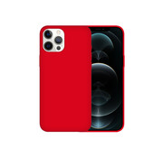 JVS Products iPhone 12 Pro Max Case Hoesje Siliconen Back Cover - Apple iPhone 12 Pro Max - Rood