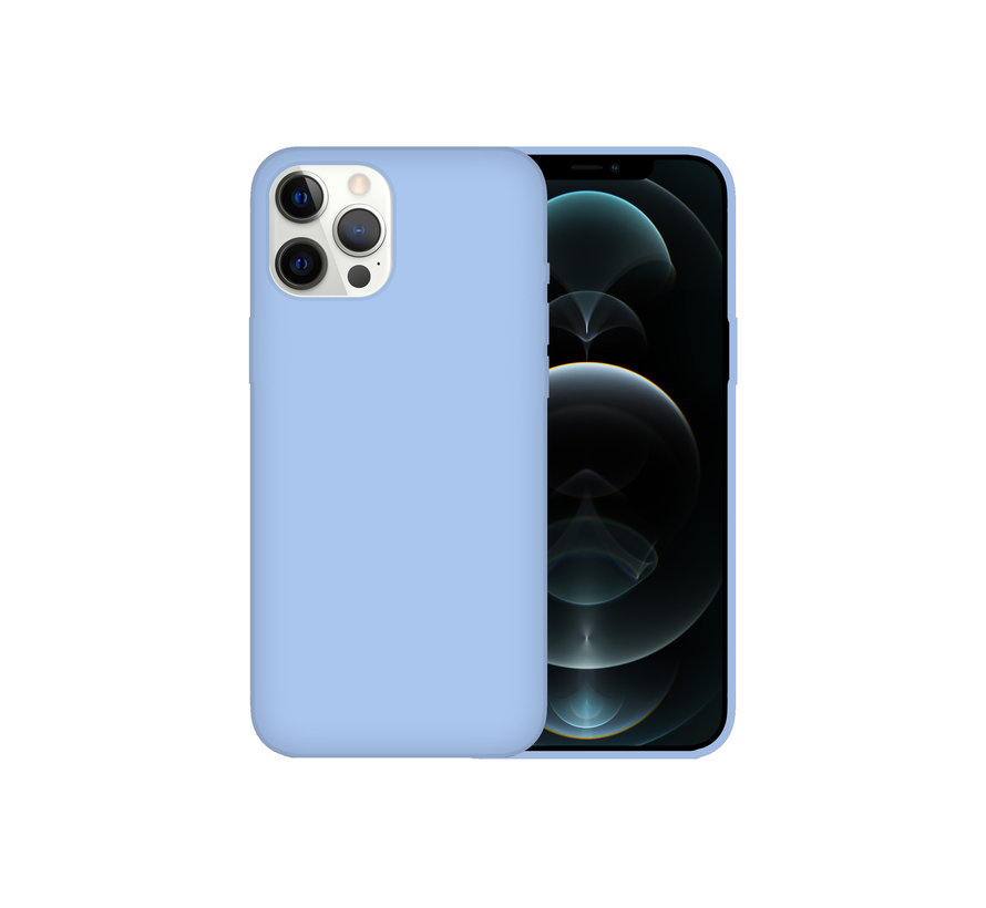iPhone 12 Pro Max Back Cover Hoesje - Siliconen - Case - Backcover - Apple iPhone 12 Pro Max - Paars/Blauw