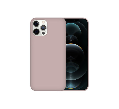 JVS Products iPhone 12 Pro Max Case Hoesje Siliconen Back Cover - Apple iPhone 12 Pro Max - Koraalroze
