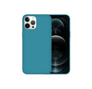 JVS Products iPhone 12 Pro Max Back Cover Hoesje - Siliconen - Case - Backcover - Apple iPhone 12 Pro Max - Zeeblauw