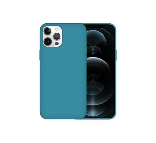 JVS Products iPhone 12 Pro Max Case Hoesje Siliconen Back Cover - Apple iPhone 12 Pro Max - Zeeblauw