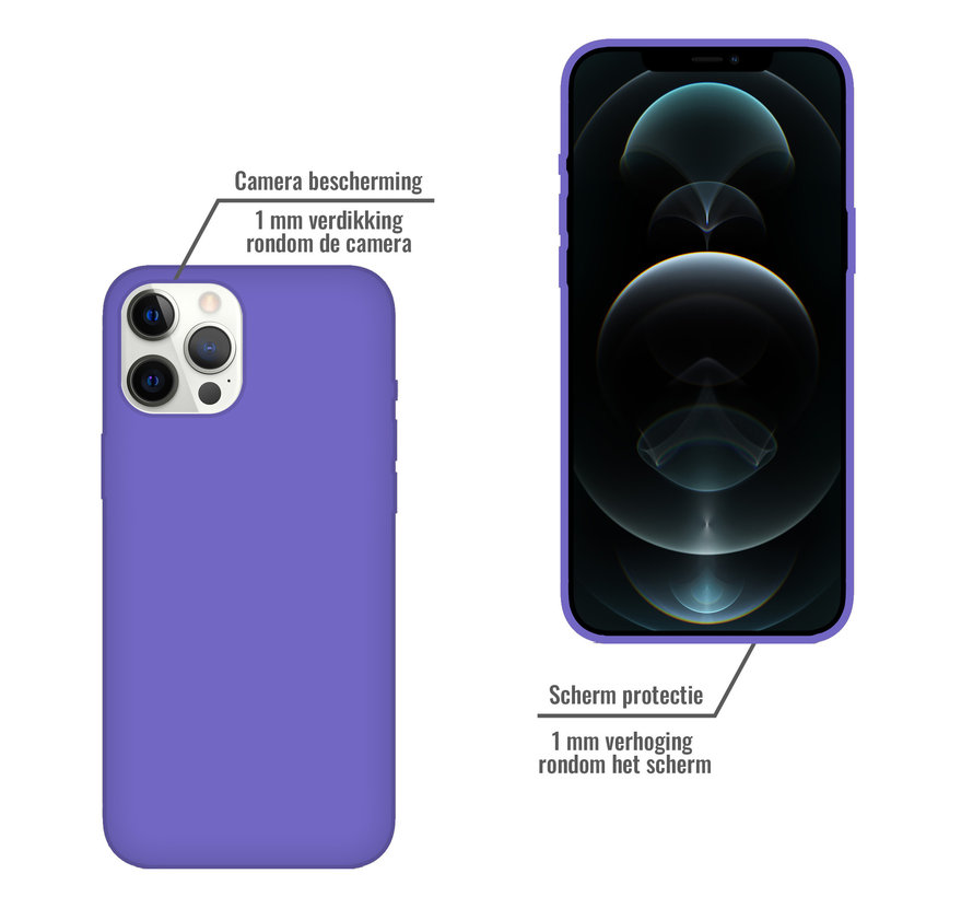iPhone SE 2020 Back Cover Hoesje - Siliconen - Case - Backcover - Apple iPhone SE 2020 - Paars