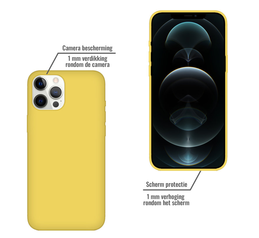 iPhone SE 2020 Back Cover Hoesje - Siliconen - Case - Backcover - Apple iPhone SE 2020 - Geel