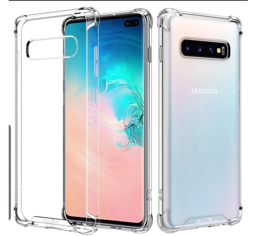 JVS Products Samsung Galaxy S10 Anti Shock Hoesje - Transparant Extra Dun hoes cover case