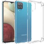 JVS Products Samsung Galaxy A12 Transparant Anti-Shock Back Cover Hoesje - Cover - Siliconen - Schokbestendig - Samsung Galaxy A12