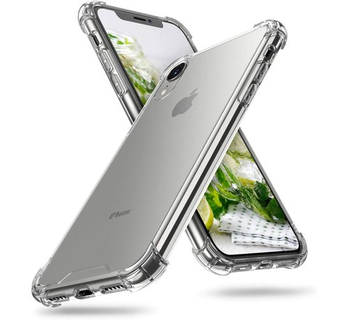 JVS Products iPhone XR Transparant Anti-Shock Back Cover Hoesje - Cover - Siliconen - Schokbestendig - Apple iPhone XR