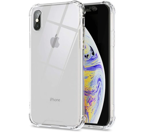 JVS Products iPhone X Transparant Anti-Shock Back Cover Hoesje - Cover - Siliconen - Schokbestendig - Apple iPhone X