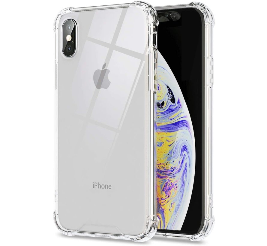 iPhone X Transparant Anti-Shock Back Cover Hoesje - Cover - Siliconen - Schokbestendig - Apple iPhone X