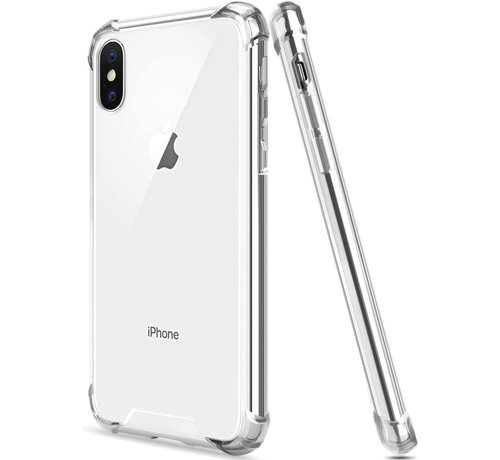 JVS Products iPhone XS Max Transparant Anti-Shock Back Cover Hoesje - Cover - Siliconen - Schokbestendig - Apple iPhone XS Max