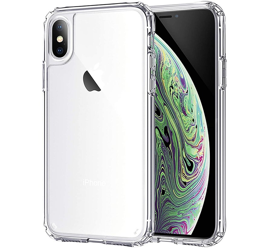iPhone XS Max Transparant Anti-Shock Back Cover Hoesje - Cover - Siliconen - Schokbestendig - Apple iPhone XS Max