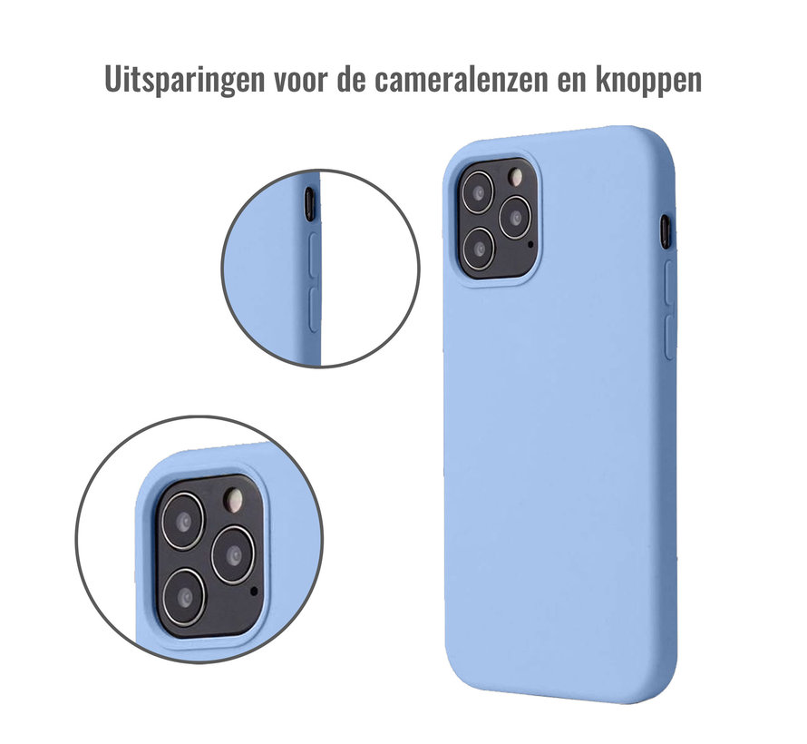 iPhone 12 Mini Back Cover Hoesje - Siliconen - Case - Backcover - Apple iPhone 12 Mini - Paars/Blauw