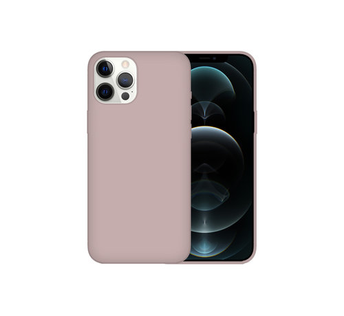 JVS Products iPhone 12 Mini Case Hoesje Siliconen Back Cover - Apple iPhone 12 Mini - Koraalroze