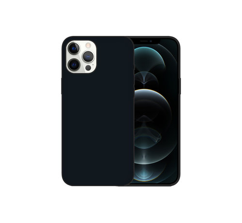 JVS Products iPhone 12 Mini Case Hoesje Siliconen Back Cover - Apple iPhone 12 Mini - Zwart