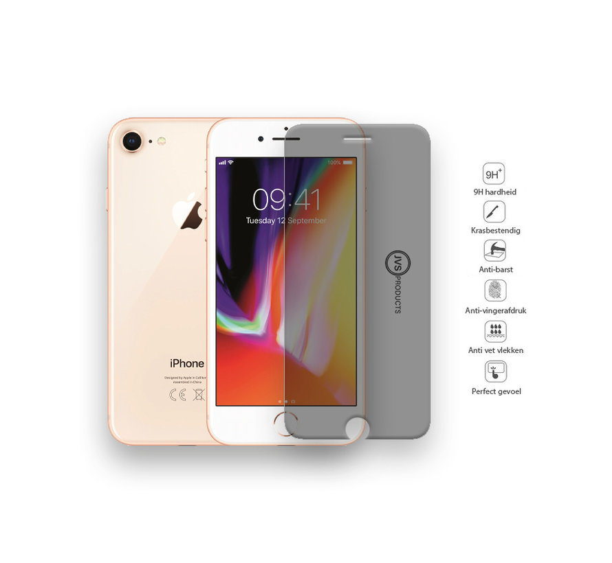iPhone 7 Privacy Tempered Glass Screenprotector Protection Kit