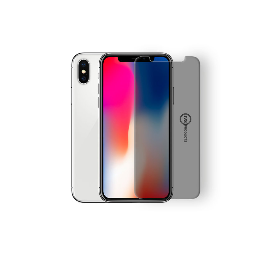iPhone X Privacy Tempered Glass Screenprotector Protection Kit