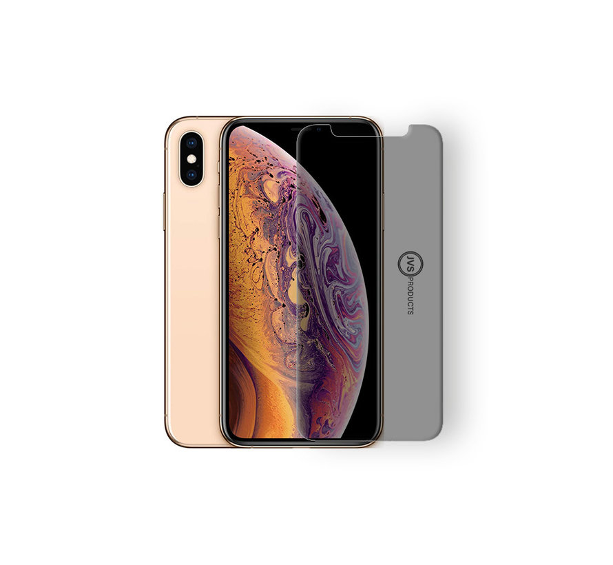 iPhone XS Max Privacy Tempered Glass Screenprotector Protection Kit - Apple iPhone XS Max - Screen Protector Set