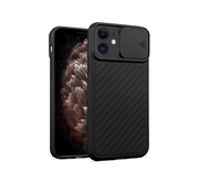 JVS Products iPhone 11 Pro Max Hoesje met Camera Bescherming - Apple iPhone 11 Pro Max Back Cover Case Camera Slide - Zwart