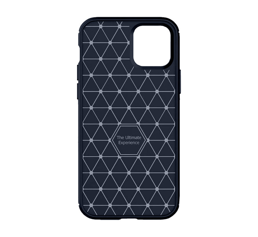 iPhone 11 Carbon Fiber Look Hoesje - Apple iPhone 11 Carbon Hoesje Cover Case - Blauw