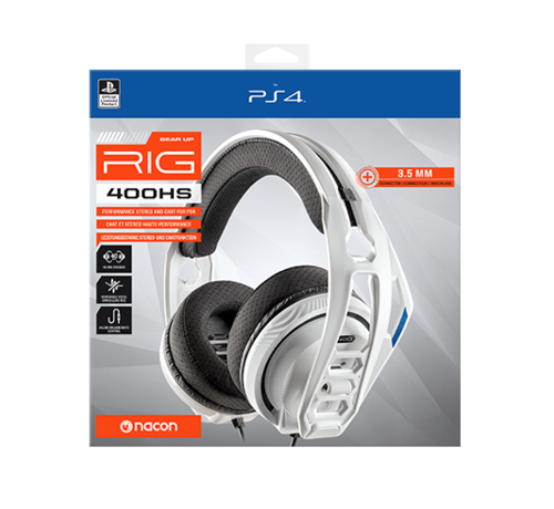 Bigben Interactive Nacon RIG 400HS Official Licensed Gaming Headset (wit) kopen