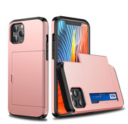 JVS Products iPhone XR Back Cover Hoesje - Pasjeshouder - Shockproof - TPU - Hardcase - Apple iPhone XR - Rosegoud