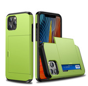 JVS Products iPhone XS MAX Back Cover Hoesje - Pasjeshouder - Shockproof - TPU - Hardcase - Apple iPhone XS MAX - Lichtgroen