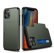 JVS Products iPhone 11 Pro Max Back Cover Hoesje - Pasjeshouder - Shockproof - TPU - Hardcase - Apple iPhone 11 Pro Max - Groen