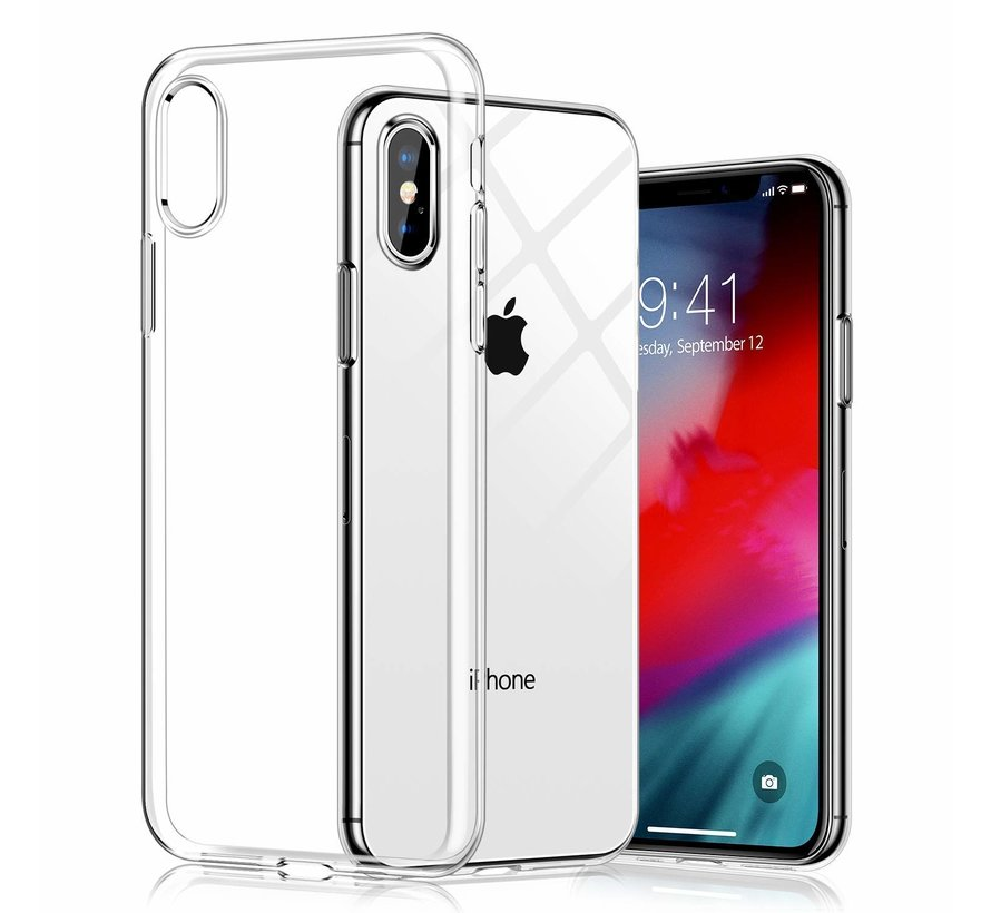 iPhone XS Max hoesje siliconen extra dun transparant hoes cover case