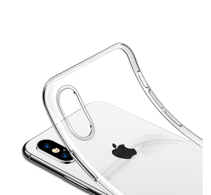 iPhone XS Max Transparant Back Cover Hoesje - Extra Dun - Siliconen - Cover- Case - Apple iPhone XS Max
