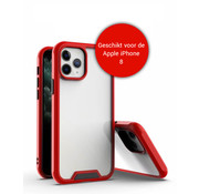 JVS Products iPhone 8 Bumper Case Hoesje - Apple iPhone 8 - Transparant / Rood