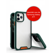 JVS Products Samsung Galaxy A71 Bumper Case Hoesje - Galaxy A71 - Transparant / Donkergroen
