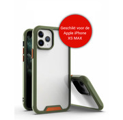 JVS Products iPhone XS Max Bumper Case Hoesje - Apple iPhone XS Max - Transparant / Groen