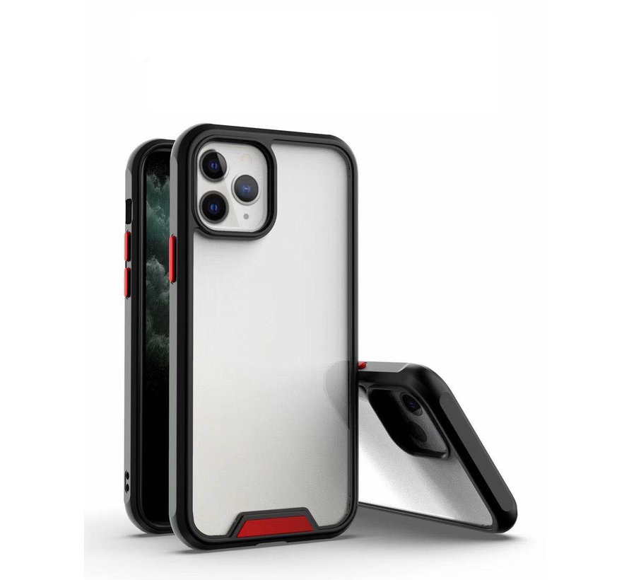 iPhone 11 Pro Bumper Case Hoesje - Apple iPhone 11 Pro - Transparant / Zwart