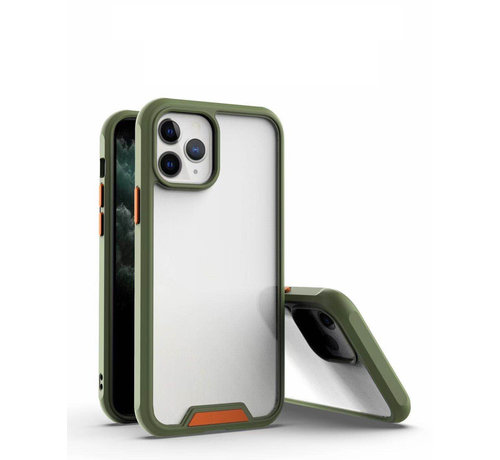 JVS Products iPhone 11 Pro Max Bumper Case Hoesje - Apple iPhone 11 Pro Max - Transparant / Groen