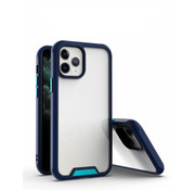 JVS Products iPhone 12 Pro Max Bumper Case Hoesje - Apple iPhone 12 Pro Max - Transparant / Blauw