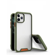 JVS Products iPhone 12 Pro Max Bumper Case Hoesje - Apple iPhone 12 Pro Max - Transparant / Groen