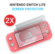 JVS Products 2 Stuks - Nintendo Switch Lite Screen Protector - 9H Gehard Glas - Screenprotector - Dual pack