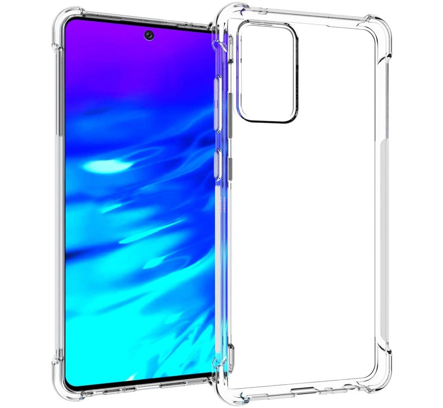 Samsung Galaxy A72 Anti Shock Hoesje - Transparant Extra Dun hoes cover case
