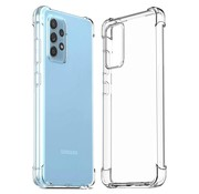 JVS Products Samsung Galaxy A52 Anti Shock Hoesje - Transparant Extra Dun hoes cover case