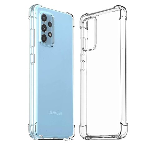 JVS Products Samsung Galaxy A52 Transparant Anti-Shock Back Cover Hoesje - Cover - Siliconen - Schokbestendig - Samsung Galaxy A52