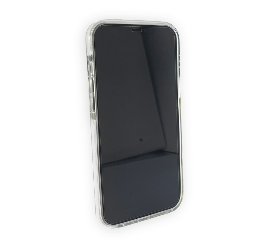 iPhone 12 Mini Back Cover Bumper Hoesje - Backcover - Case - Apple iPhone 12 Mini - Transparant / Wit