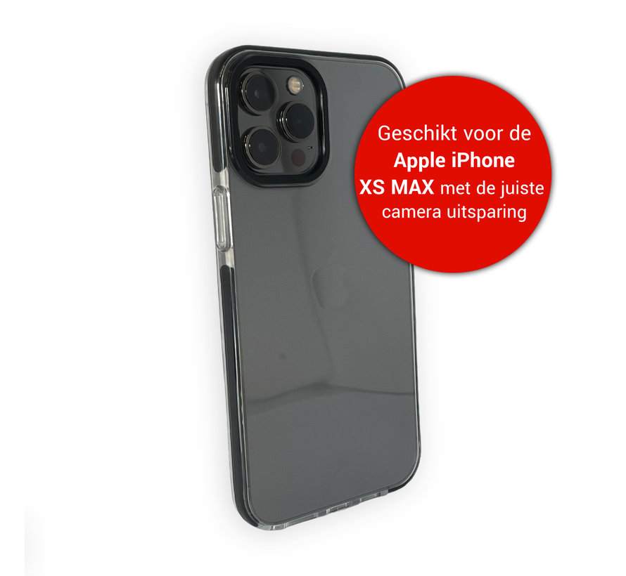 iPhone XS Max Back Cover Bumper Hoesje - Backcover - Case - Apple iPhone XS Max - Transparant / Zwart
