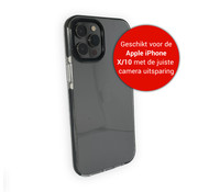JVS Products iPhone X Back Cover Bumper Hoesje - Backcover - Case - Apple iPhone X - Transparant / Zwart